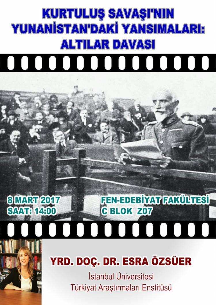 Tarih Bölümü Konferansları - 43 [Yrd. Doç. Dr. Esra Özsüer]