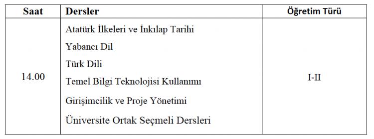 2020-2021 Bahar Dönemi Tek Ders Sınavı Hk.